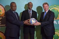 President Issa Hayatou, Paul Kagame, Dr. Seth Berkley