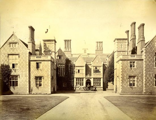 Photograph South elevation showing the 1846/7 double bay hall which was later replaced in 1893  Image courtesy of Lindsay Sinclair and released under Creative Commons BY-NC-SA 4.0