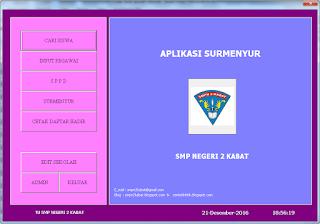 menu aplikasi surat