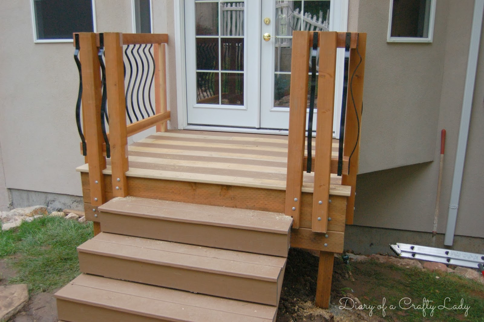 Diary Of A Crafty Lady Building A Deck A Power Tool Project | Making Steps For Decking