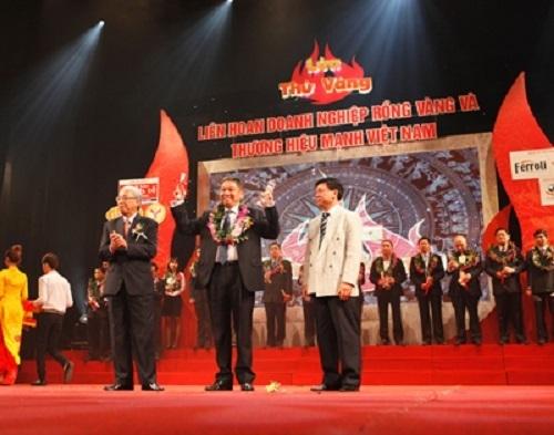 Vietnam Economic Times trao tặng Giải thưởng Rồng Vàng vào năm 2012.
