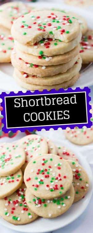 Shortbread Cookies #christmas #cookies
