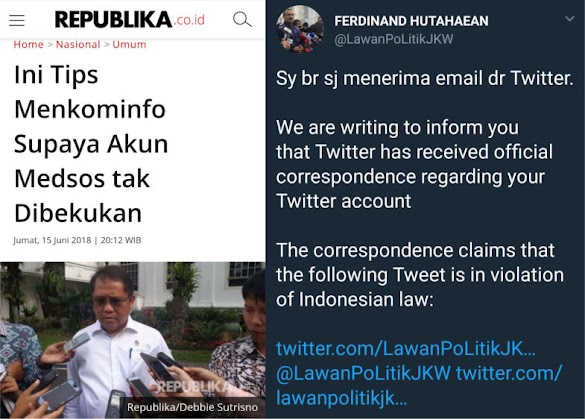 Menkominfo Bantah Terlibat Penangguhan Akun Twitter Oposisi, Elite Demokrat Unggah Fakta Ini