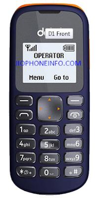 Detel D1 Phone front side