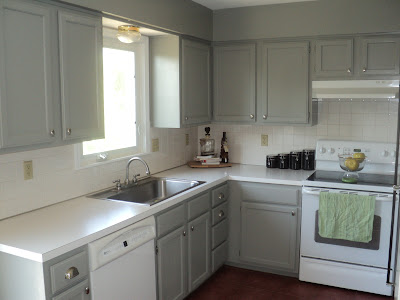 grey kitchen cabinets with white appliances disappointed about painting oak cabinets 16101