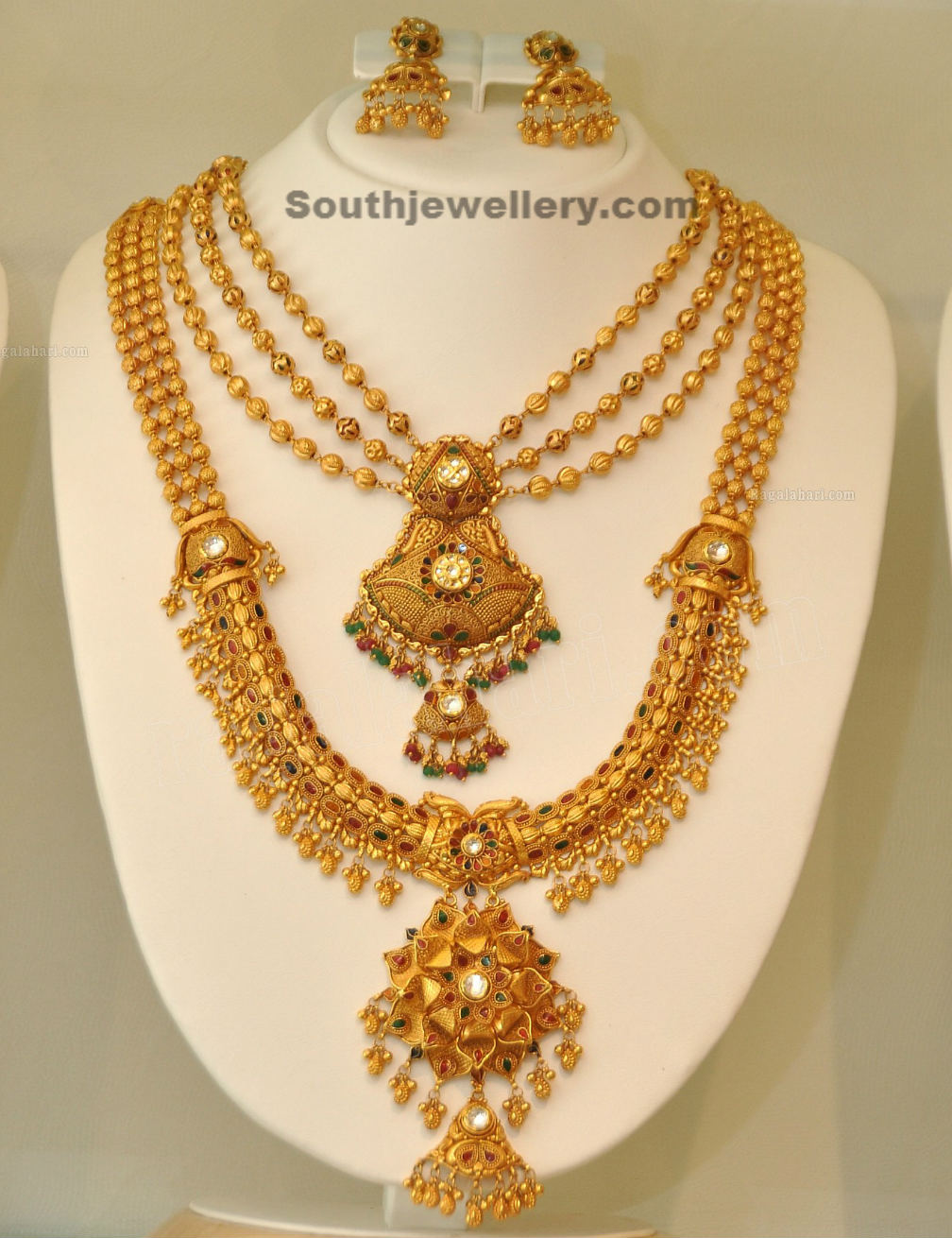 Khazana gold Haram | long necklace designs - Latest Jewellery ...