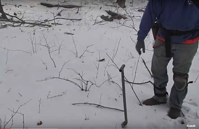 Metal Detecting in the Snow