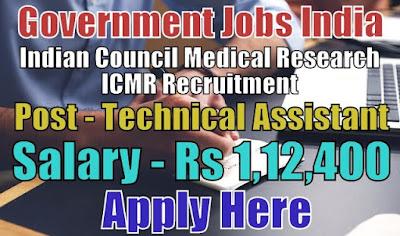ICMR Recruitment 2018