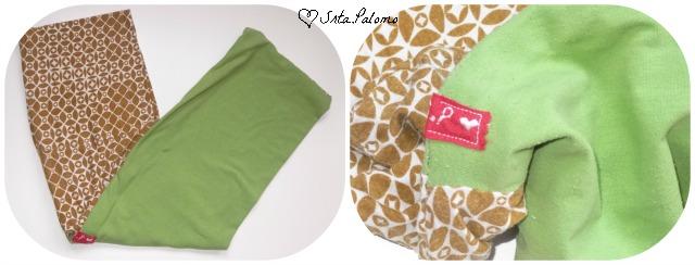 snood, bufanda circular, hecho con camisetas recicladas