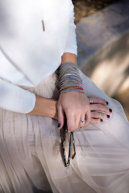 how to layer bracelets and rings