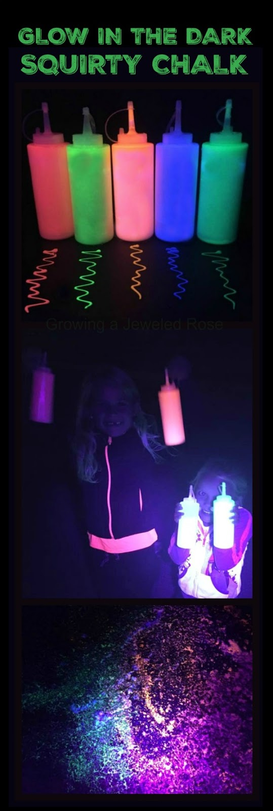GOT 5 MINUTES?  Make this and blow the kids away! (Glow in the dark chalk paint)