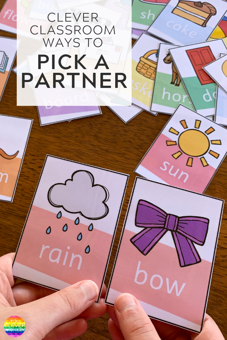 Clever Ways To Pick a Partner in Class - quick, fun and easy ways  to organize your students into partners or small groups | you clever monke