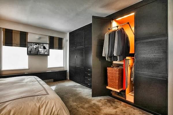 Kamar  Tidur  dengan Lemari Kayu Blog Koleksi Desain Rumah