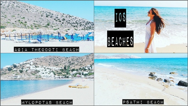 IOS beaches travel video: Agia Theodoti, Psathi, Mylopotas