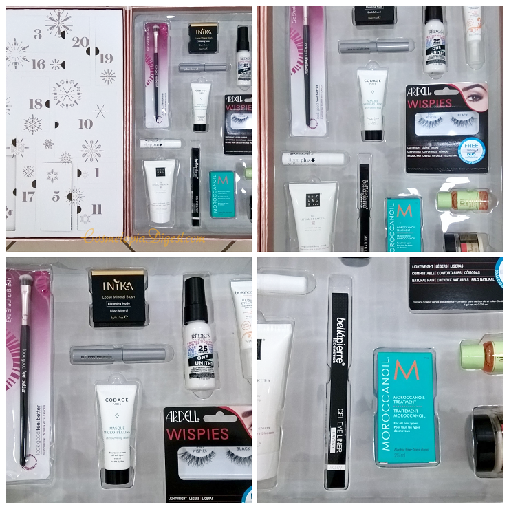 LookFantastic Beauty Secret Vol. 2 Advent Calendar 2016 contents, unboxing.