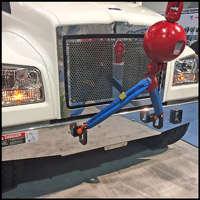 Optional Fixed Grille for Kenworth T880S with Set-Forward Axle