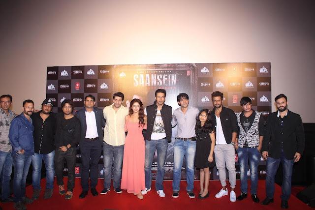 L-R director Rajiv Ruia, music director Vivek Kar, producer Goutam Jain, Vishal Malhotra, Sonarika Bhadoria, Rajniesh Duggall, Hiten Tejwani, Sachi Ruia, Amir Dalvi