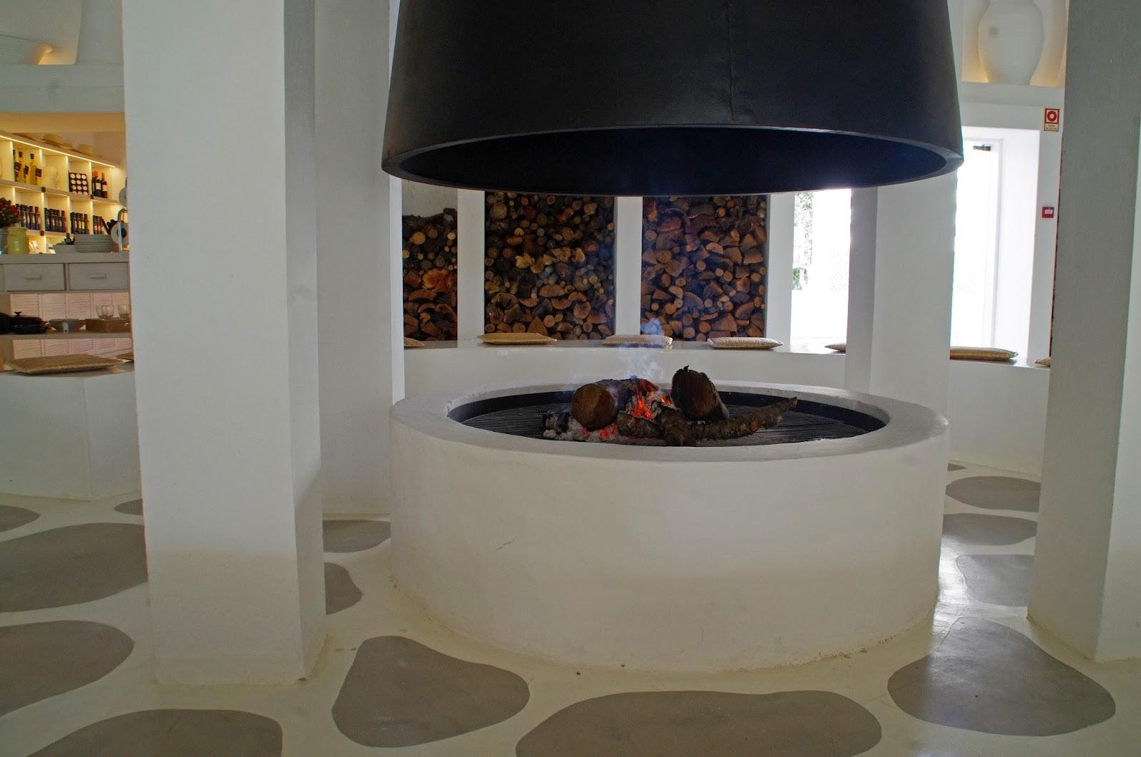 Vila Monte Farm House Fireplace in Reception