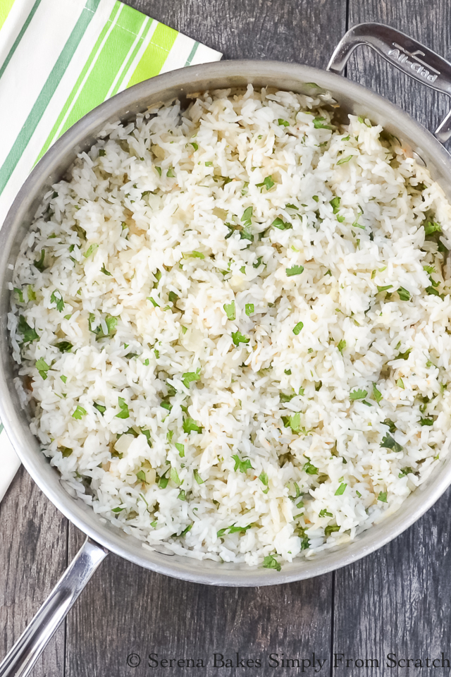Top 10 Recipes of 2016 Cilantro Lime Rice on serenabakessimplyfromscratch.com.