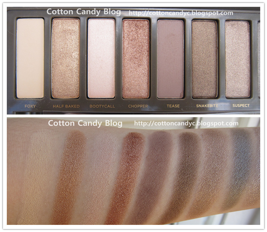 Cotton Candy Blog Urban Decay Naked2 Palette Swatches