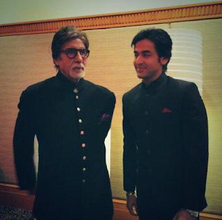 Foto Shashank Vyas dengan Amitabh Bachchan