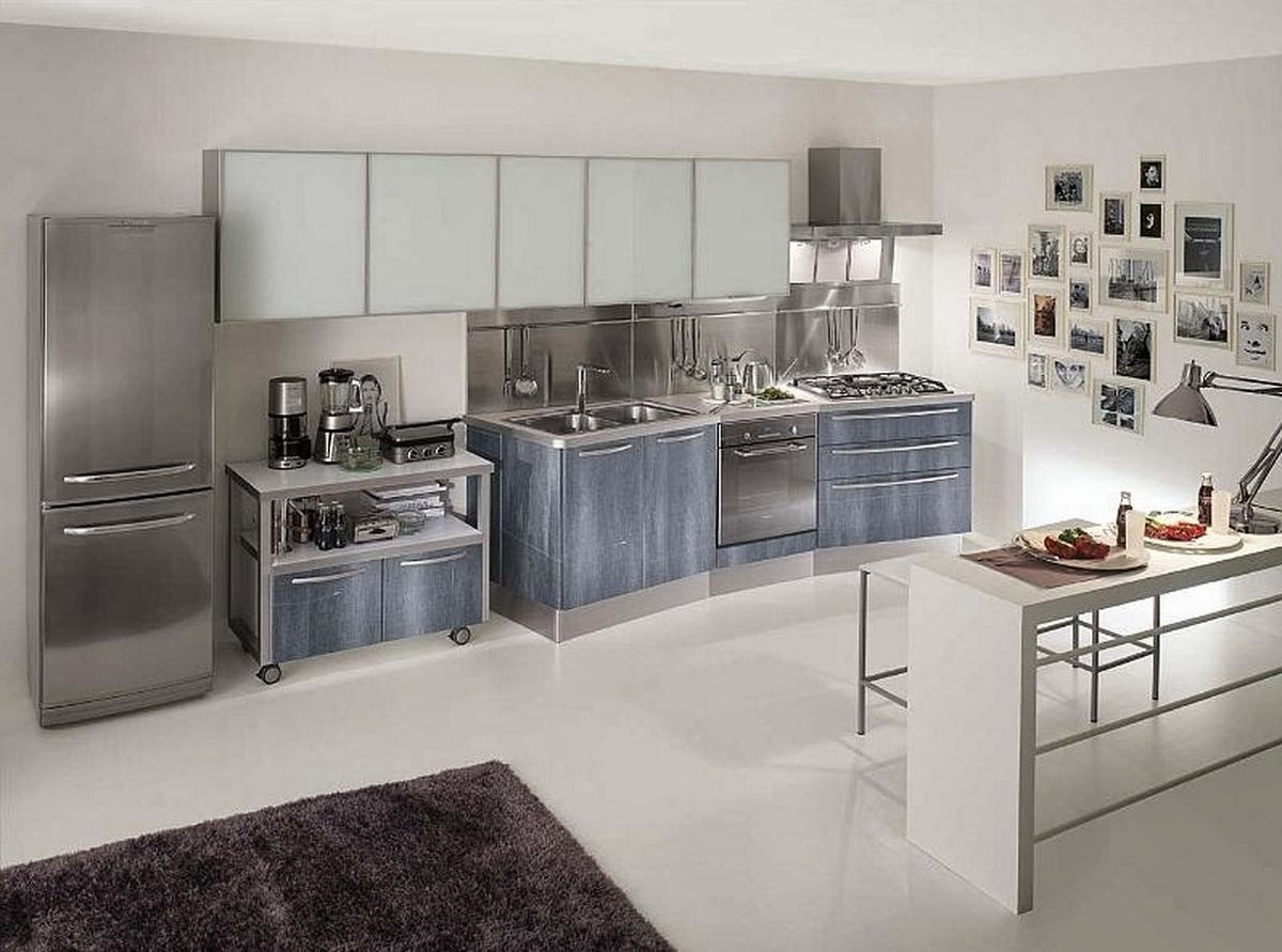new trend of modern stainless steel metal kitchen cabinets Stainless Steel Kitchen Cabinets 12