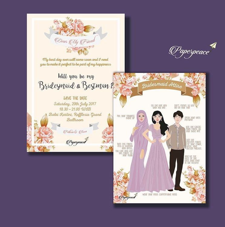 Paperpeace attire bridesmaid card for msfellicias bridesmaid attire bridesmaid card for msfellicias bridesmaid bestman stopboris Gallery