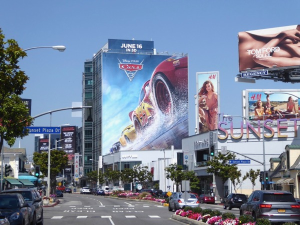 Giant Cars 3 movie billboard Sunset Strip