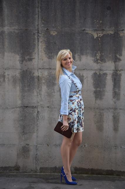 outfit camicia jeans come abbinare la camicia jeans abbinamenti camicia jeans outfit aprile 2017 outfit primaverili  mariafelicia magno fashion blogger colorblock by felym fashion blog italiani fashion blogger italiane blog di moda
