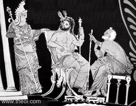 The three judges of death.  Aeacus, Minos and Rhadamanthus.
