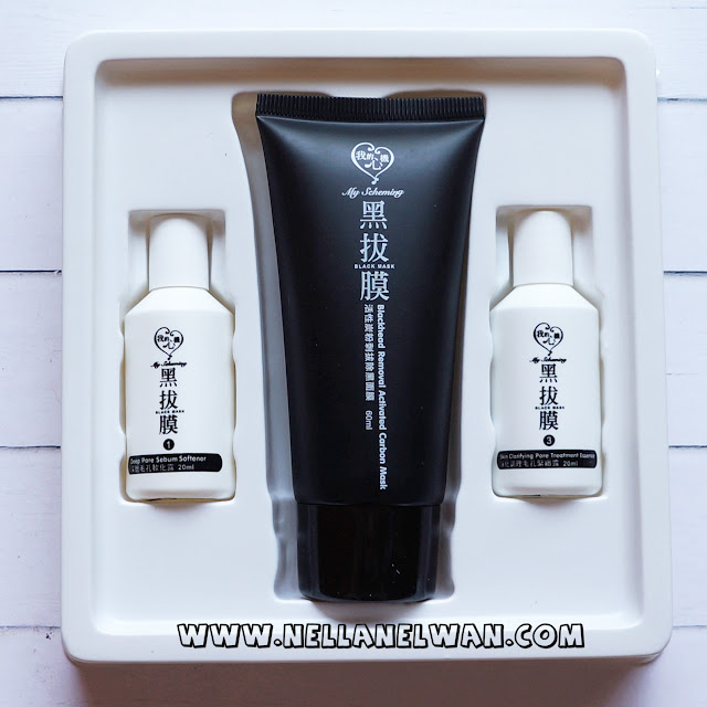 My Scheming Blackhead Removal Activated Carbon Mask Set Nella nelwan Review