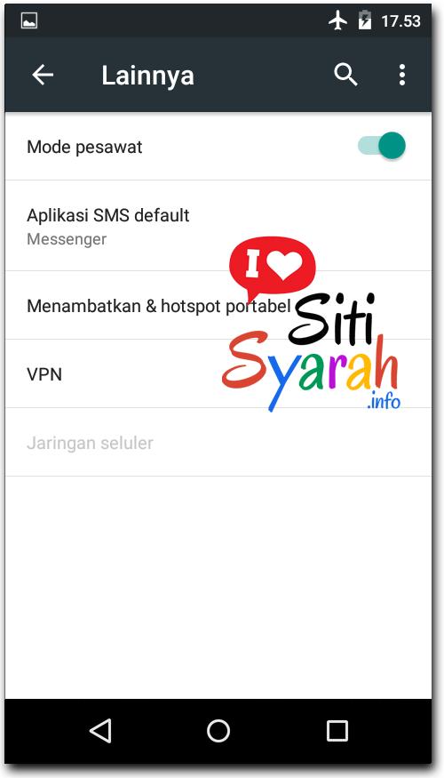 solusi internet error di Android
