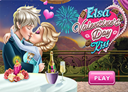 Elsa Valentine's Day Kiss Online juego