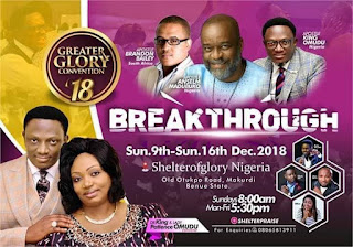 GREATER GLORY CONVENTION 2018