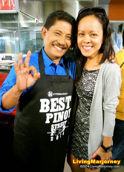 with Chef Boy Logro at SM Hypermarket's Best Pinoy Street Food