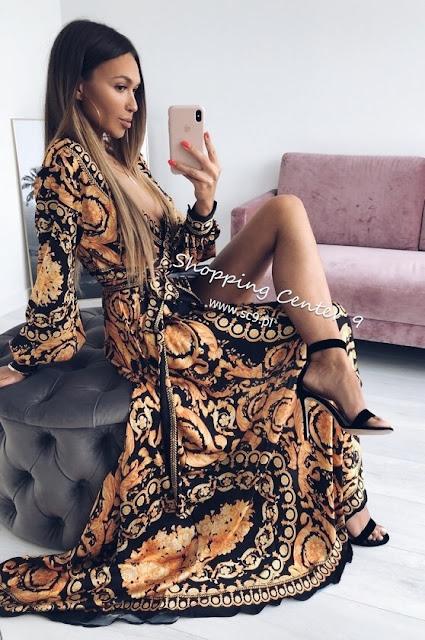 trendy sukienki na lato sukienka maxi z rozcięciem z przodu