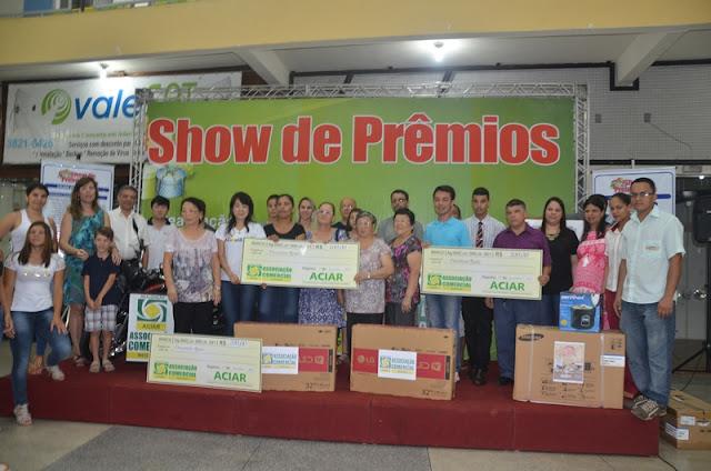 SHOW DE PRÊMIOS - Quanto maior a participação, maior o fortalecimento do comercio