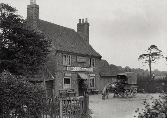 The Woodman, Water End in the 1900s Image from R. Papworth / G. Knott, part of the Images of North Mymms Collection