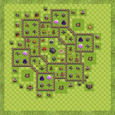 War Base Town Hall Level 9 By Jason Heikes (jjh TH 9 Layout)