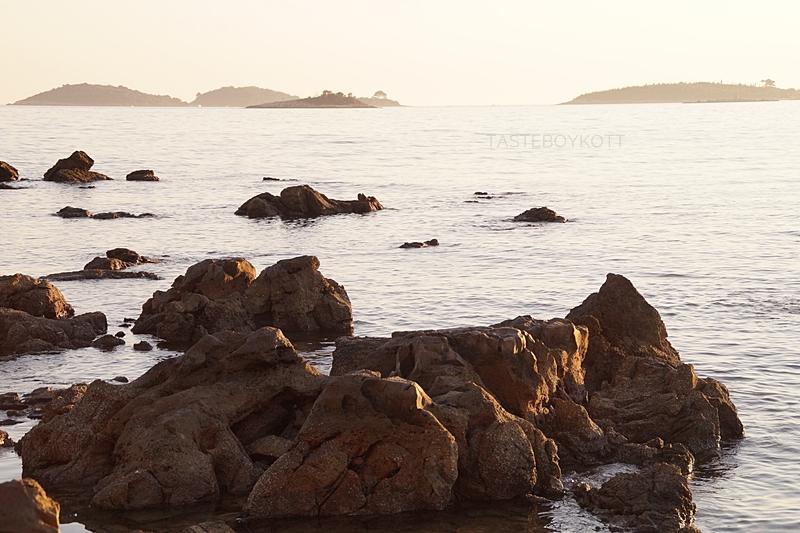 Croatia sea evening sun light in summer