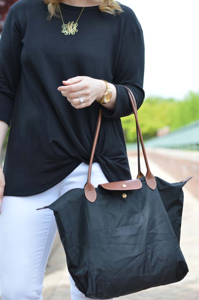 Longchamp Tote Outfit Idea