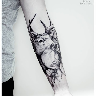 Gorgeous Forearm Deer Tattoos