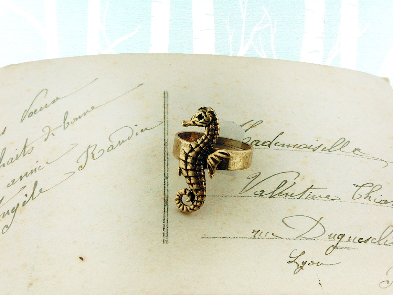 LAVISHY handmade vintage style lobster adjustable ring