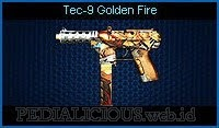 Tec-9 Golden Fire