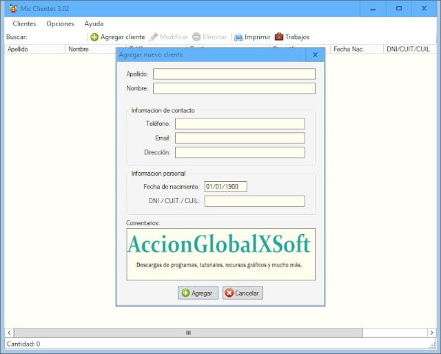 Mis clientes 3.02   Programa de base de datos de clientes para pequeñas empresas o tiendas