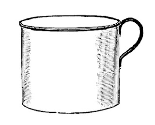 coffee mug image illustration digital clip art
