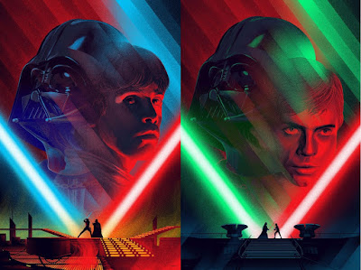 "Star Wars ""Cloud City Duel"" & ""Death Star II Duel"" Screen Prints by Kevin Tong x Mondo"