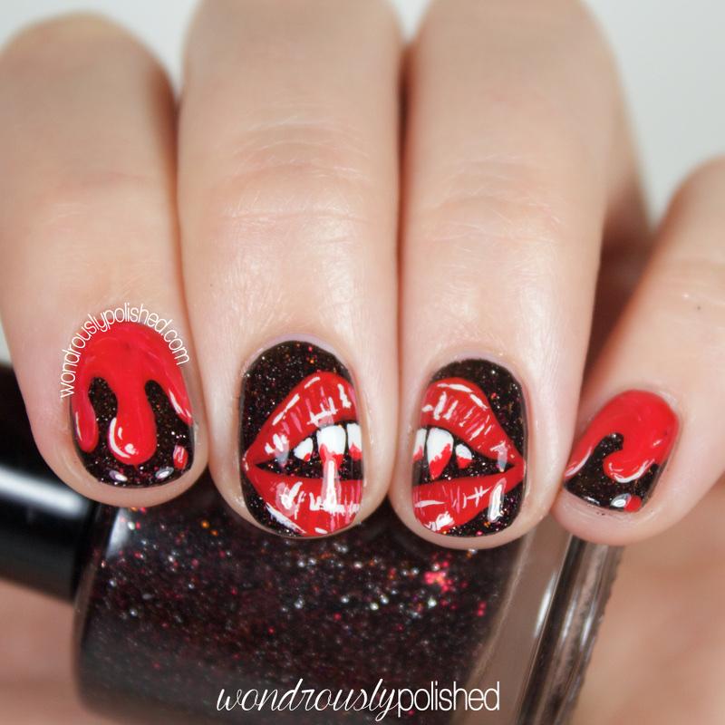 Vampire Nail Polish: Wondrously Polished: The Digital Dozen Does Spooky Days