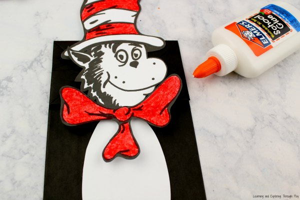 Cat in the Hat Puppet Craft Printable
