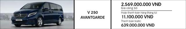 Giá xe Mercedes V250 Avantgarde 2018 tại Mercedes Trường Chinh
